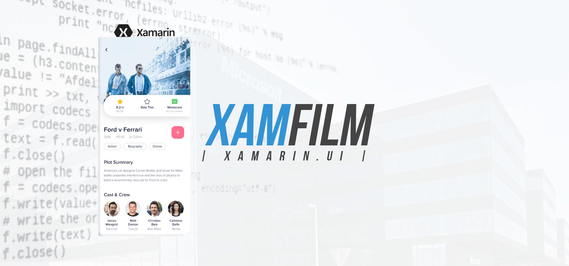 Xamarin.Forms – XamFilm UI